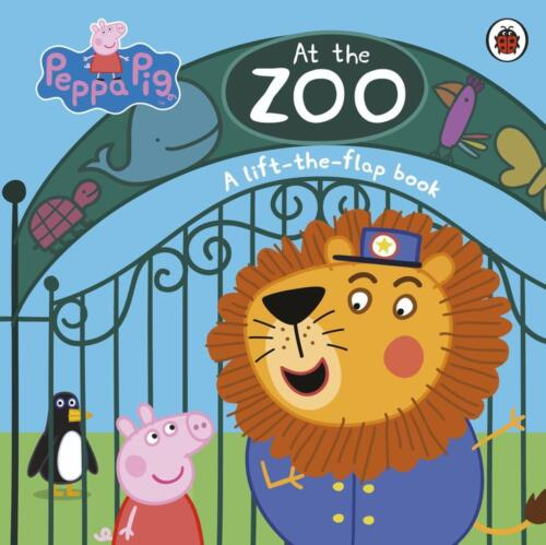 Peppa Pig: At the Zoo: A Lift-the-Flap Book by Peppa Pig Board Books Book Free S