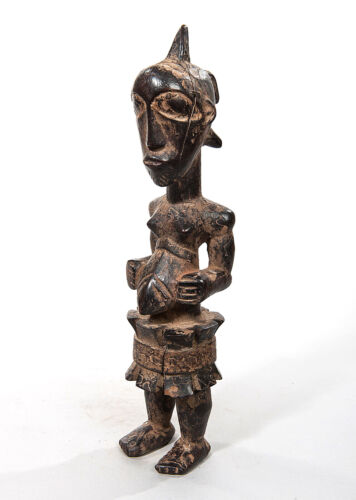 Bembe Female Ancestor Sculpture, D.R. Congo, Zambia, African Tribal Statue