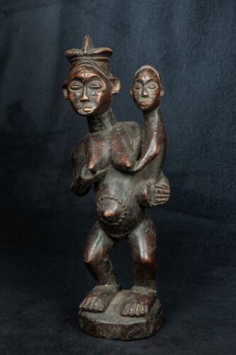 Bembe Maternity Sculpture, D.R. Congo, Zambia, African Tribal Statue