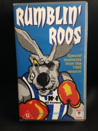 RUMBLIN ROOS ~ NORTH MELBOURNE ~ SPECIAL MOMENTS from 1995 SEASON ~ VHS VIDEO