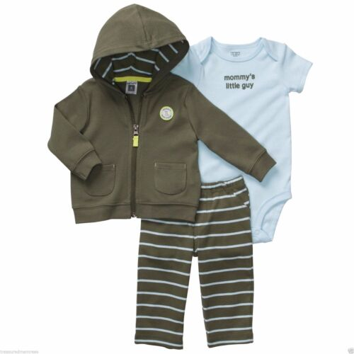Carter's 3 PC. Pants, Body Suit & Hooded Cardigan Set ~ Mommy's Little Guy ~ NWT