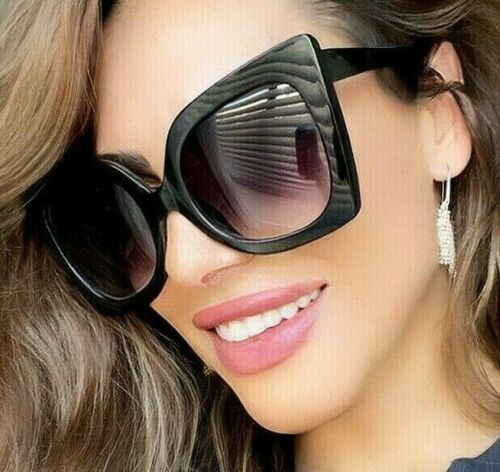 "BIG OVERSIZED ""Jackie"" BUTTERFLY Women Sunglasses Aviator Flat Top Square Shadz"