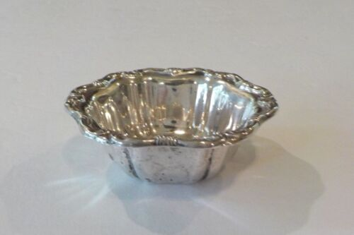 BIRKS ANTIQUE CHASED STERLING SILVER NUT DISH, SCROLL DESIGN, 20 grams