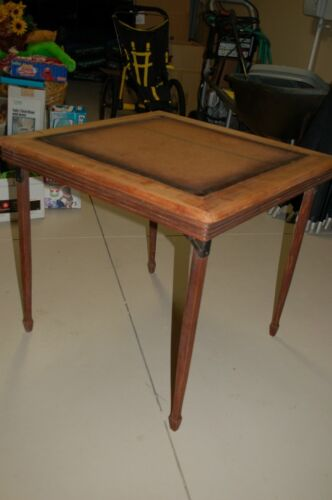 Vintage Leg-o-matic Card Folding Table solid wood frame and legs