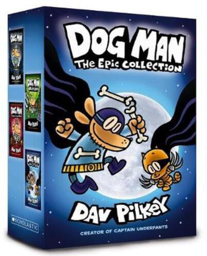 Dog Man: The Epic Collection by Dav Pilkey Hardcover Book Free Shipping!