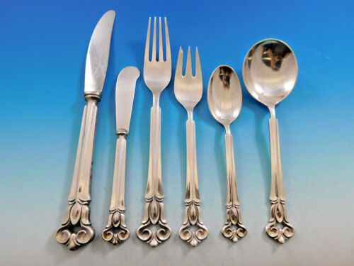 Monica by Cohr Danish Sterling Silver Flatware Set For 6 Service 30 pieces