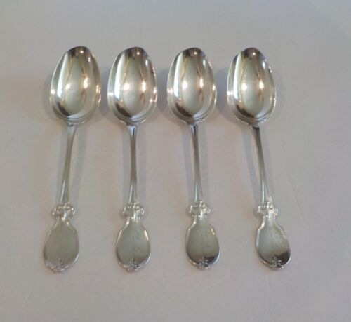 19th C. Set/4 Albert Coles COIN Silver Serving Spoons