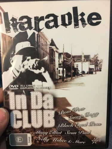 Karaoke - In Da Club region 4 DVD (music / karaoke) rare