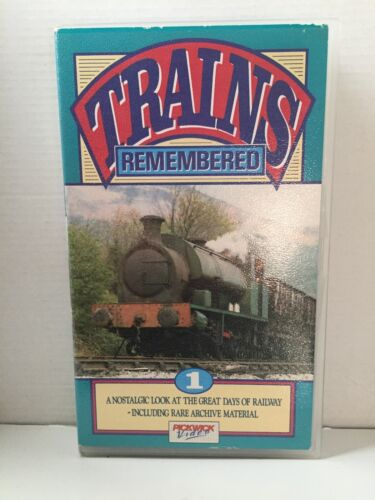 TRAINS REMEMBERED ~ VOLUME 1 ONE ~ RARE VHS VIDEO