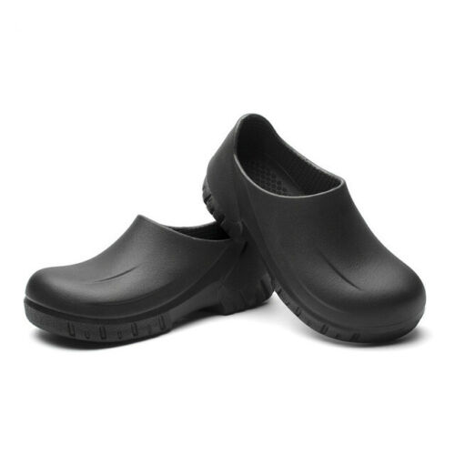 Mens Non-slip Chef Shoes Kitchen Oil-resistant Waterproof Work Leather Boots New
