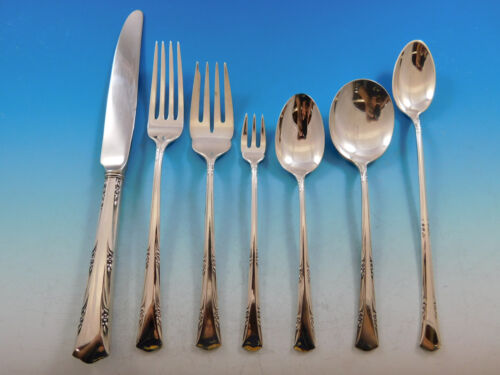 Greenbrier by Gorham Sterling Silver Flatware Set for 8 Service 56 Pieces
