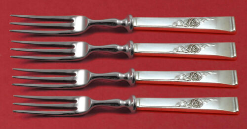 Classic Rose by Reed and Barton Sterling Silver Fruit Fork Set 4pc HH WS Custom