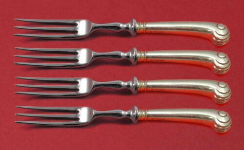 """Onslow by Tuttle Sterling Silver Fruit Fork Set 4-piece HH WS Custom Made 6"""""""