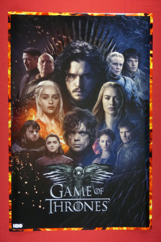 Game of Thrones HBO Characters Actors Movie Poster 24X36 NEW  GOTC