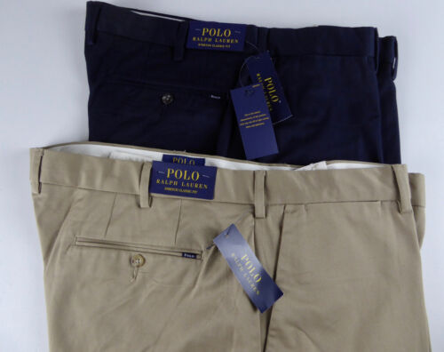 Polo Ralph Lauren Flat Front Stretch Classic Fit Chinos Khaki Pants NWT   98.50 9aeb77f90ce