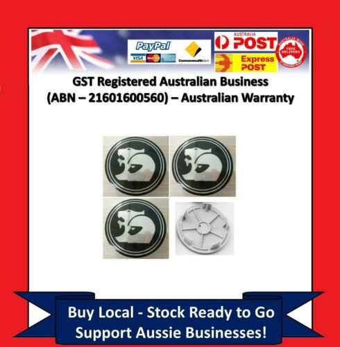 4 x Wheel Centre Caps Holden 63mm HSV Coupe V2-VY VZ VE VF EX GTS Commodore CY