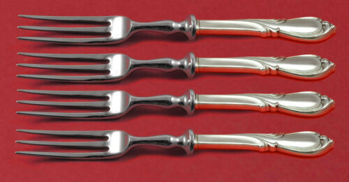 Rhapsody New by International Sterling Silver Fruit Fork Set 4pc Custom Made 6""