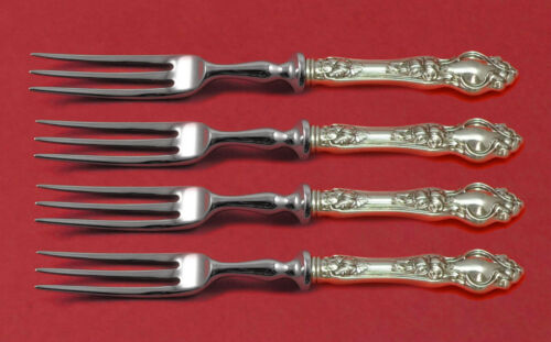 Violet by Wallace Sterling Silver Fruit Fork Set 4-Piece Custom Made 6""