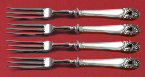 Spring Glory by International Sterling Silver Fruit Fork Set 4pc Custom 6""