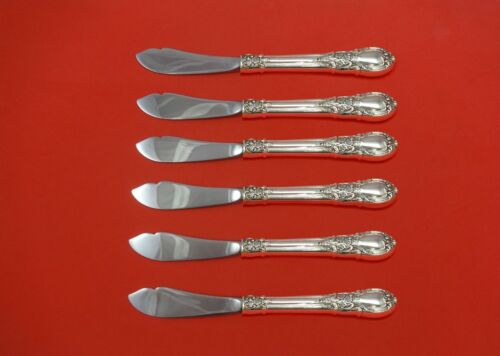 """American Victorian by Lunt Sterling Silver Trout Knife Set 6pc 7 1/2"""" Custom"""