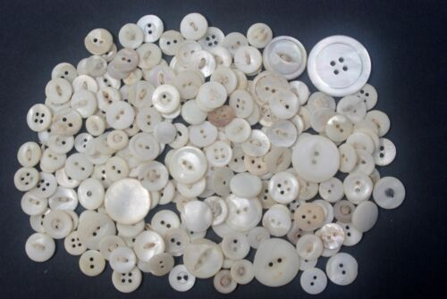 200 Vintage Mother of Pearl (MOP) Shell Buttons