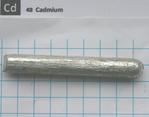 ~75 Gram 99,98% Cadmium metal rod - Pure element 48 sample