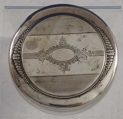 "Renaissance by Wallace Sterling Silver Powder Jar 4"" Diameter #98-41 (#3039)"