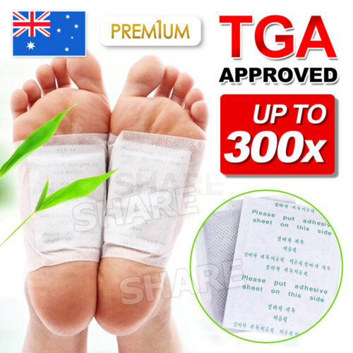 100 Pack Detox Foot Patch Pads Natural plant Toxin Removal 100 Sticky Adhesives