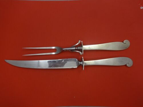 """Pattern Unknown by Porter Blanchard Sterling Roast Carving Set 2pc HHWS  14"""""""