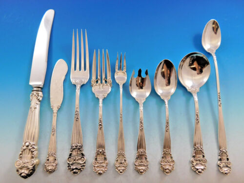 Georgian by Towle Sterling Silver Flatware Set for 12 Service 122 Pieces