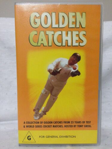 GOLDEN CATCHES ~ 23 YEARS OF TEST & WORLD SERIES CRICKET ~ VHS VIDEO