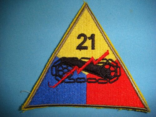 PATCH US ARMY 21st  ARMORED DIVISIONArmy - 66529