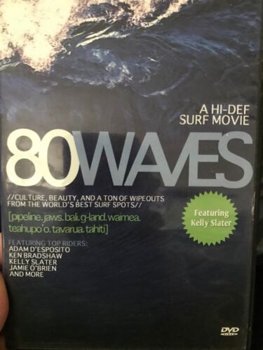 80 Waves region 4 DVD (2010 surfing documentary featuring Kelly Slater) rare