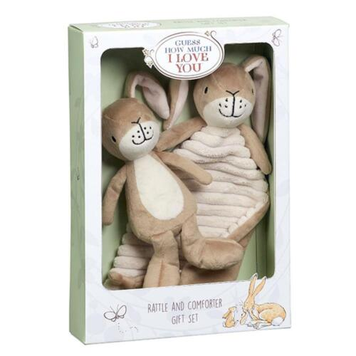 Guess How Much I Love You Comfort Blanket And Rattle Gift Set Free Shipping!