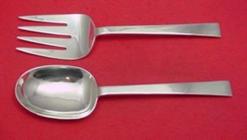 Continental by International Sterling Silver Salad Serving Set 2-pc AS Huge 9""