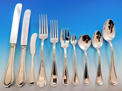 Hepplewhite by Reed & Barton Sterling Silver Flatware Set Service 129 Pc Dinner