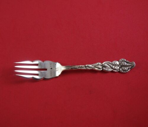 """Ailanthus by Tiffany and Co Sterling Silver Salad Fork Wavy Tines 1883-1908 6"""""""