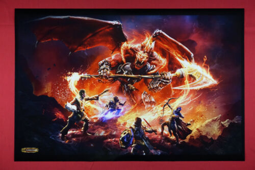 Dungeons and Dragons Fire Demon D&D Fantasy Colorful Picture Poster 24X36 DDEM