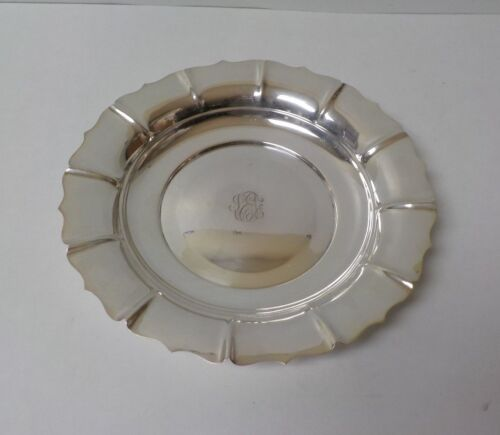 "Tuttle IRISH Pattern Sterling Silver Fluted 10"" Bowl, Monogram"