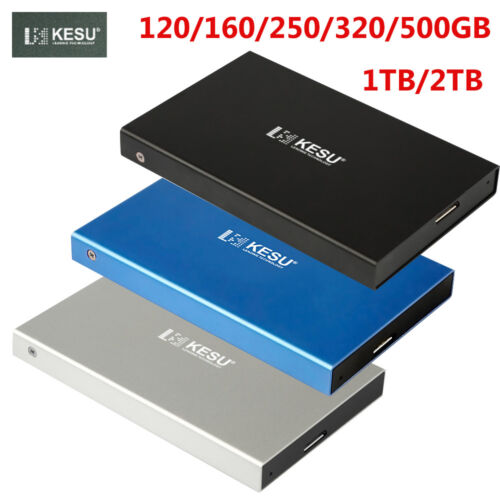 External Hard Drive USB 3.0 120/160/250/320/500GB/1/2TB Portable for Office Work