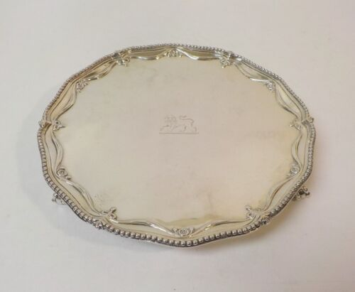 "Richard Rugg II GEORGE III Sterling Silver 8"" Tray / Salver, c. 1778"