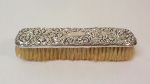 Repousse Sterling Silver Backed Clothes Brush, No Monogram (#6)