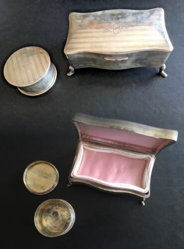 19TH CENTURY CHINA CHINESE STERLING SILVER ZEESUNG VANITY SET 1OF2 纯银器