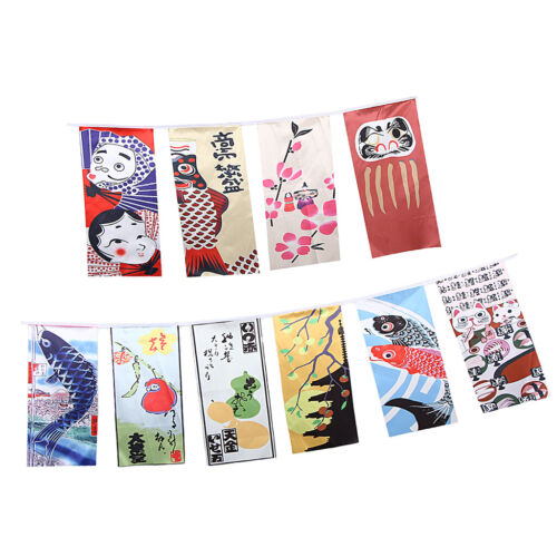 Japanese Style Bunting Flags Banners Shop Store Restaurant Doorway Decor E