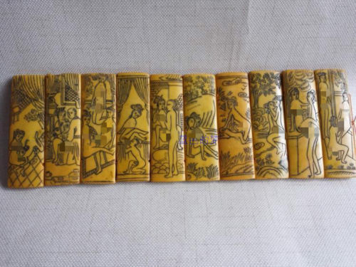 """11.8"""" China antique Collection Pornographic character Sexual position board"""