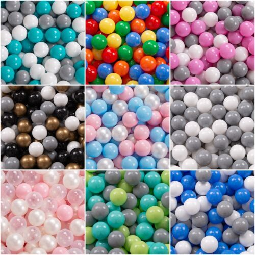 KiddyMoon New Kids Plastic Soft Play Balls for Children Ball Pits, Multicoloured