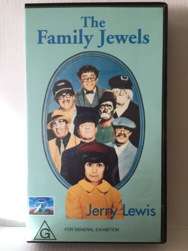 JERRY LEWIS ~ THE FAMILY JEWELS ~ PAL VHS VIDEO