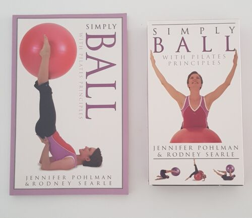 Simply Ball With Pilates Principles Book & VHS Jennifer Pohlman & Rodney Searle