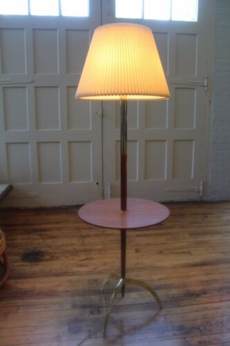 Mid Century Modern Laurel Floor Lamp with Table