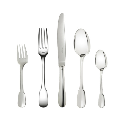 Cluny by Christofle Paris France Silver Plated 5 Piece Place Setting New